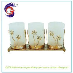 Китай старинной металлической мемориал чай лампа-свеча держатель