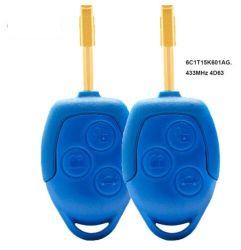 フォードの中継Wm Vm 2006-2014 P/Nのための遠隔キーFob 3ボタン433MHz 4D63チップ: 6c1t15K601AG Fo21