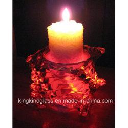 Хрустальное стекло при свечах держатель для украшения