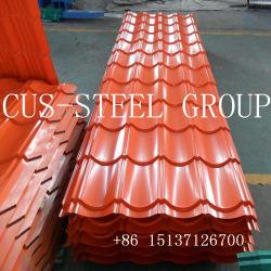 Couleur RAL de la Chine Pre-Painted de matériaux de construction de gros de tôle de toit vitré