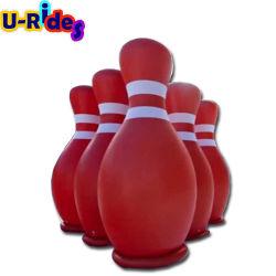 Zorb insuflável loucos jogos de bola com a bola de bowling bowling humana insufláveis