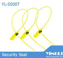 Recipiente de segurança de elevado limite elástico ajustável a vedação plástica com trava de metal