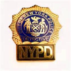 personalizado-nos EUA o metal da Polícia Militar Badge Grosso abridor de garrafa Ombro Colectivo Nyc Nypd monograma da polícia com Carteira de couro para venda