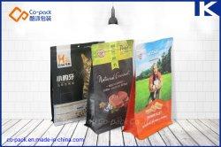 Het vlakke Voedsel van de Hond & van de Kat van de Bodem Flexibele/De Verpakkende Zak van de Ritssluiting van het Voedsel voor huisdieren/Voedsel voor huisdieren die de ZijZak van de Hoekplaat verpakken