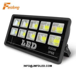 50W 100W 150W 200W 300W 400W 500W 600W Projecteur à LED IP66 avec boîtier en aluminium noir de la puce de rafles de couleur