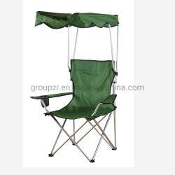 Kampierender Fischen-Strand-Falz-Stuhl mit Kabinendach