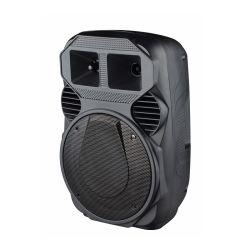 """8"""" 새로운 디자인 홈 오디오 프로페셔널 가라오케 뮤직 뮤직 댄스 사운드 장비 판촉용 플라스틱 휴대용 미니 스피커(무선 마이크 및 포함 배터리"""