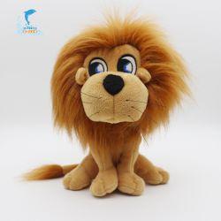 Waldwildes Tier, das Minilöwe-Plüsch-weicher Spielzeug-Zoll angefüllten Löwe sitzt