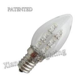 Breveté bougie C7 de l'ampoule LED E12 des ampoules des feux de nuit