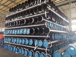 API 5L/ASTM A106/ASTM A53 gr. B ANSI B36.1 Standard pintado a preto de Aço Sem Costura pipe schedule 40/80/120/160 para venda a extremidade cônica