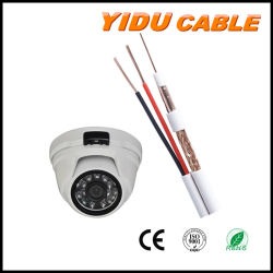 Hersteller Coaixal Kabel Rg59+2c für CCTV-Kamera-Überwachungskamera-Kabel mit Energien-Kabel Rg59+2c