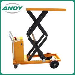 전기 손 상승 테이블 유압 기중기는 상승 테이블 트롤리를 가위로 자른다