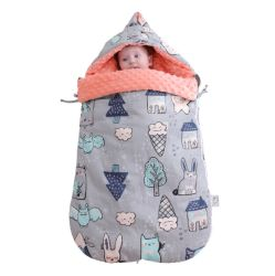 이중 사용 신생 포옹 아기 베레모 총괄적인 슬리핑백을 두껍게 하는 아기 순수한 면 내진성 가을 및 겨울