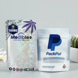 مستوصف ثلاثي الأبعاد قابل للتحلل البيولوجي معاد تدويره، طفيل التغليف مقاومة للرائحة حقيبة طب مقاومة Weed بحجم 3.5 غ و28 غ/2 أونصة