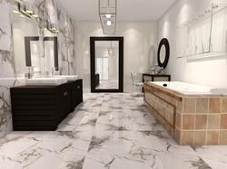 거실을%s 눈 산 예술 디자인에 의하여 닦는 윤이 난 세라믹 벽 그리고 마루
