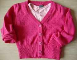 2013 Girl Sweater, 핑크 V-Collar Knit Sweater, 버튼이 있는 패셔너블한 어린이 스웨터