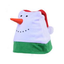 Sj027 de Nieuwe Hoeden van de Sneeuwman van Kerstmis van de Vacht van de Hoed van de Neus van de Kleur van de Aankomst Grappige Gecombineerde Lange Polaire Gekke