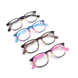 Novo design de cores da moda pronto de fábrica Stock Óculos Presbyopic unissexo óculos de leitura de plástico Reader de óculos com hastes flexíveis e alimentação asféricos