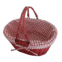 Cadeau de pique-nique de saule osier Storage Hanging Basket