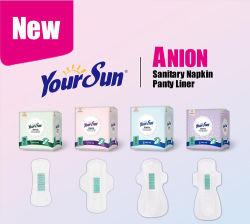 Yoursun exclusif unique d'ions négatifs anion super douce serviette hygiénique