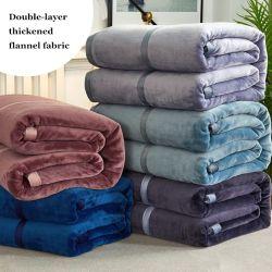 Flanela personalizada velo polar Lambskin cobertor com uma única camada e espessamento da camada dupla e a Caxemira