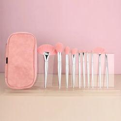 Highwoo Großhandelsfirmenzeichen-Rosa-kosmetischer Pinsel-Set-Verfassungs-Pinsel Soem-10PCS mit Beutel