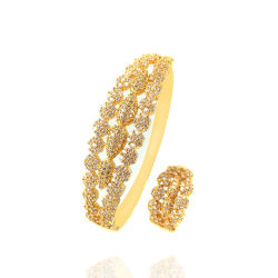 Diamond Fashion Jewelry 18K Gold Imitation Frauen Armreif Silber