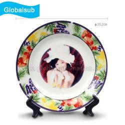 """Les plaques de porcelaine chinoise décorative avec Photo de sublimation-8"""""""