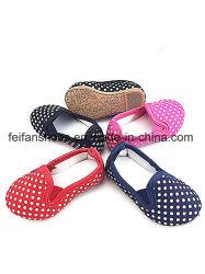 ズック靴の原因の履物の靴(FFBB1228-01)の赤ん坊の注入のスリップ