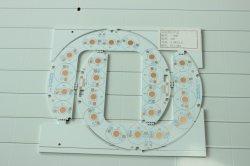 El aluminio basó el PWB rígido de aluminio redondo de la tarjeta de circuitos 2835 LED SMD 5630 LED