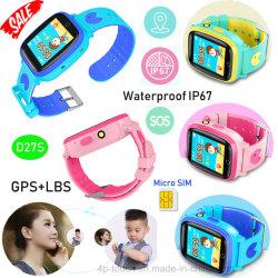 Новая IP67 водонепроницаемые Часы с GPS Tracker телефон с камерой D27s