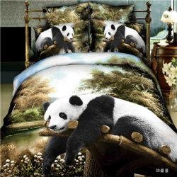 Coperchio stampato reattivo 100% del Duvet dell'assestamento del cotone 3D della Cina impostato con il tessuto di sonno profondo