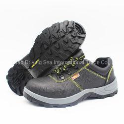Ash poliuretano preto único em couro Calçado de segurança/calçado
