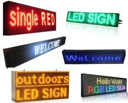 Piscina P10 LED de cor vermelha único sinal de exibição de publicidade para carro/táxi topo/Janela/Dianteiro/Traseiro