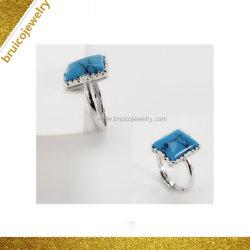Bijoux Set Bague avec gemme finition antique anneau fantaisie incrusté Turquoise