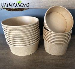 runde Pappe 1300ml/Kraftpapier/Bambuspapier/Brown-Filterglocke mit Antinebel-Kappen