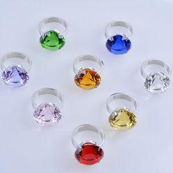 40mm Diamante de cristal colorido pequeno anel guardanapo para decoração