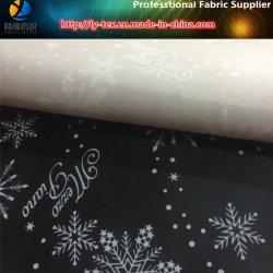 Taffettà del poliestere di natale con stampa del fiocco di neve per il rivestimento