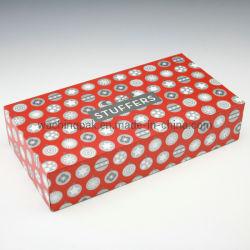Rouge Blanc Litho l'impression de fond et couvercle de boîte d'emballage cadeau accessoires de vêtements à l'emballage