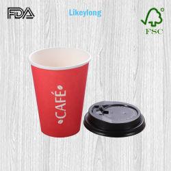 De beschikbare 12oz Biologisch afbreekbare Enige Kop van de Koffie van het Document van de Muur PLA