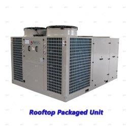 Зеленый зал на верхнем этаже кондиционера упакованные блок кондиционера воздуха