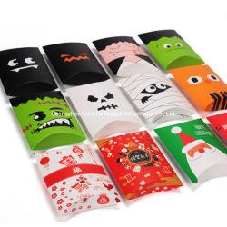 新式の小さい結婚祝いの包装のクリスマスキャンデーの昇進の枕形のパッケージ袋の偽造品の毛のクラフト紙ボックス
