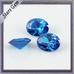 10X12mm de tamanho grande Blue excelente cortada a diamante de zircónio