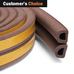 3M EPDM rubberen Deurpakking D E I P Vorm Zelfklevende Tape schuimrubberen afdichtstrip voor de weerstrip van de houten portierafdichting