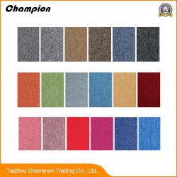 Plain Multi-Color PVC backing Carpet Tile for Office Flooring; Commercial PP Tufted loop Pile PVC backing Carpet Tiles Indoor Office Home Carpet