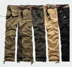 Pantalon cargo de coton à armure sergé avec Multi-Pocket