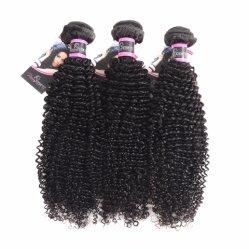 Необработанные Virgin человеческого волоса продление монгольской выходцев из Африки в полной мере Cuticle Kinky вьющихся волос черный Реми человеческого волоса Weft