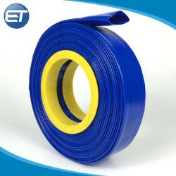 L'eau de la pompe haute pression en PVC souple jaune bleu rouge de l'irrigation à plat Tube du tuyau flexible pour l'irrigation agricole