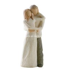 새로운 도착 도매 수지 조각품 결혼 케이크 상품 수양버들은 함께 상품을 굳힌다