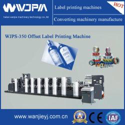 Alimentación del molinete Venta caliente Rollo de papel adhesivo de la etiqueta de Cine de la máquina de impresión Offset (WJPS-350)